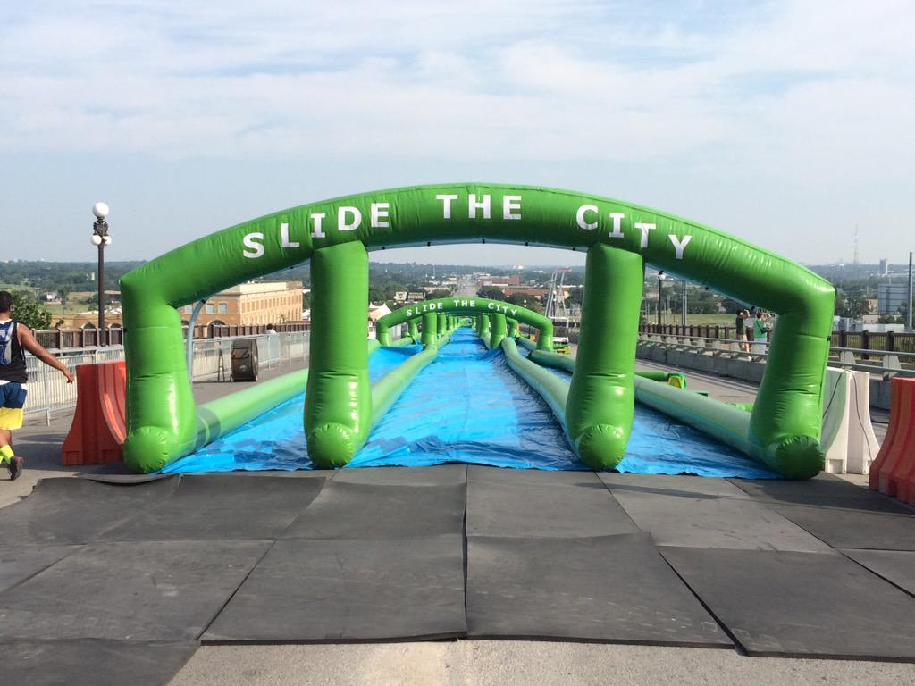 The most epic slip-n-slide ever! 2,000 feet long for #Pantherfest. HBD Fort Worth! #slidethecity http://t.co/M9mGQRrvF9