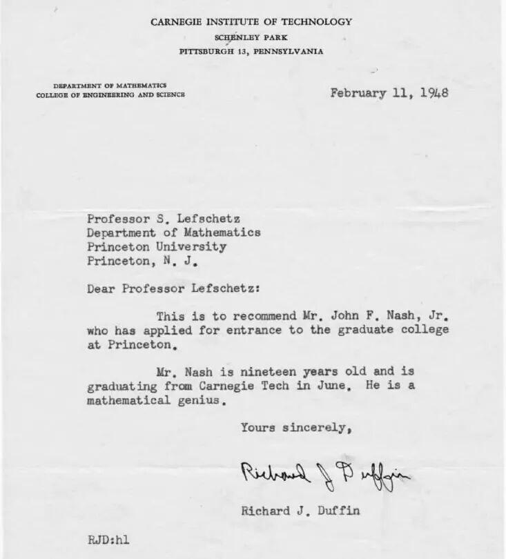 John Nash's recommendation letter http://t.co/5lK52I4Gfx