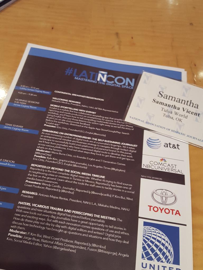 About to get started at #LATINcon @NAHJOklahoma @NAHJ :) http://t.co/K8CGUyAw4k
