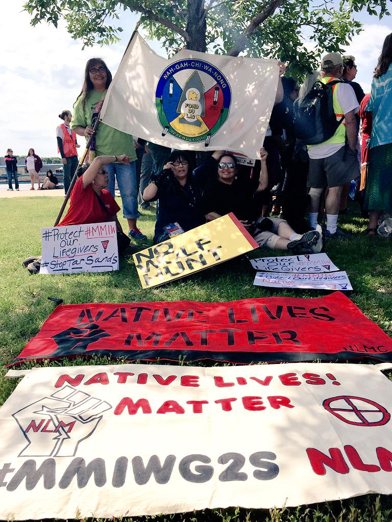 We stand with Native Lives Matter Coalition as they march to #StopTarSands. #MMIW @NLMcoalition #solidarity http://t.co/zGQI1BMmXw