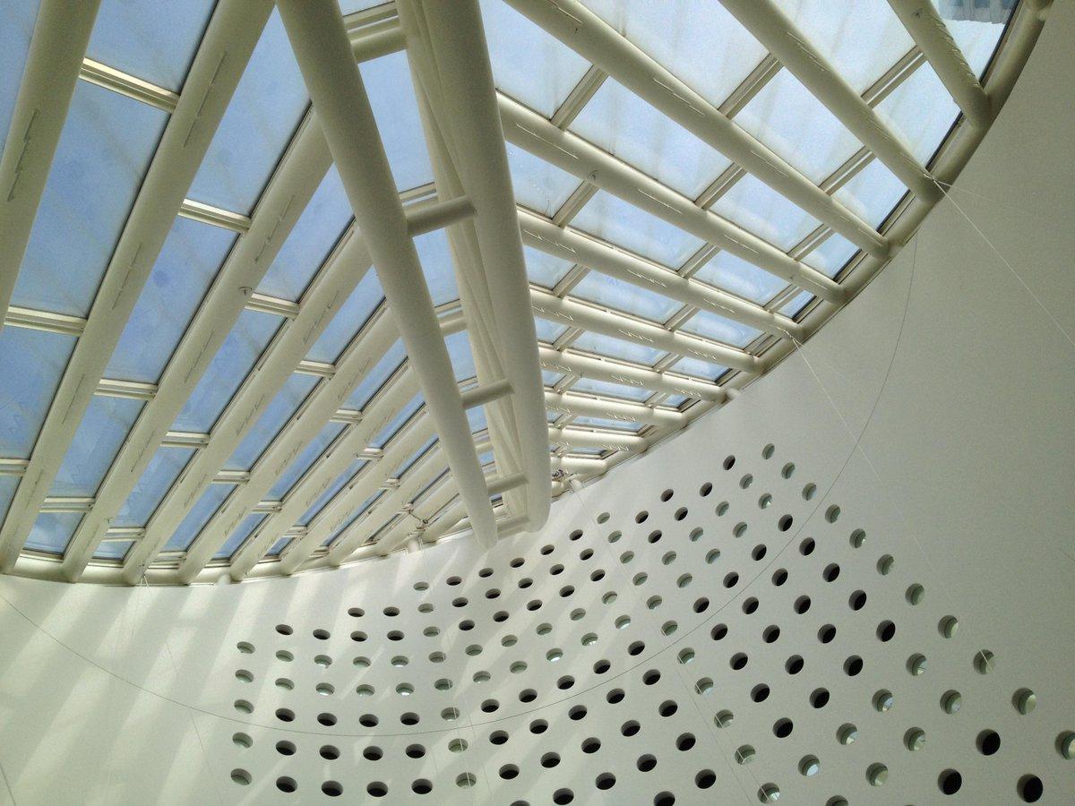 Skylight grids... with curve #SFMOMAgo #mathphoto15 #array http://t.co/c4wLCUlX9J