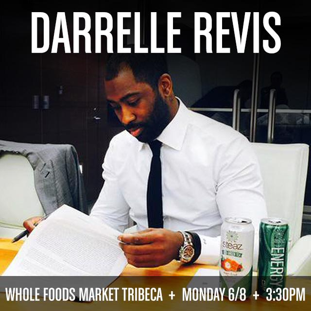 Meet All-Pro CB Darrelle Revis (@Revis24) on Monday @wholefoodsnyc (Tribeca)! We'll have giveaways & cans of Steaz. http://t.co/ZTgVl5c0cf