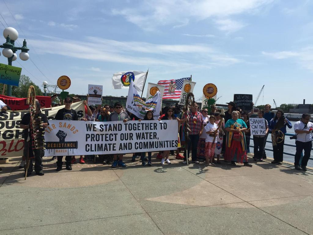 We are frontline Indigenous peoples and we say #StopTarSands! Ready to march! #KeepItInTheGround http://t.co/LWp2cFabAs