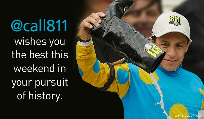 Turn on NBC around 6:30 EST to join #Call811 nation in cheering on @EspinozasVictor as he races for #TripleCrown! http://t.co/2mbhXv6ymM