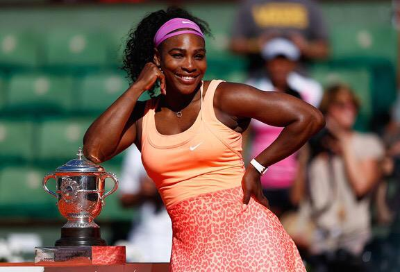 "Serena ""Who gon stop me?"" Williams http://t.co/LxB4fqji8S"