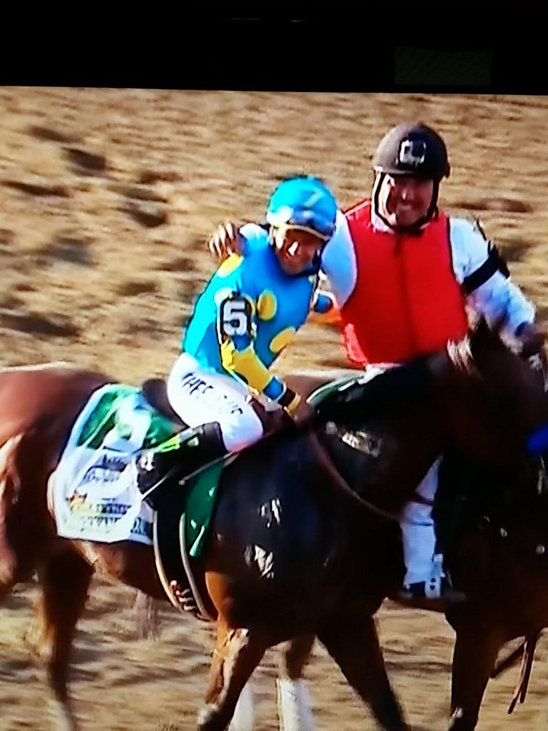"Pretty sure the world heard ""holy s*#t!"" on national tv from Victor Espinoza after winning . Indeed! #BelmontStakes. http://t.co/WJb5IM8OCj"
