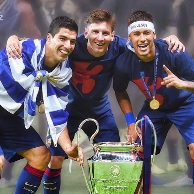 Sem mais ...... 🏆 Leo Messi e @LuisSuarez9 !! http://t.co/CnbYQgd1AV