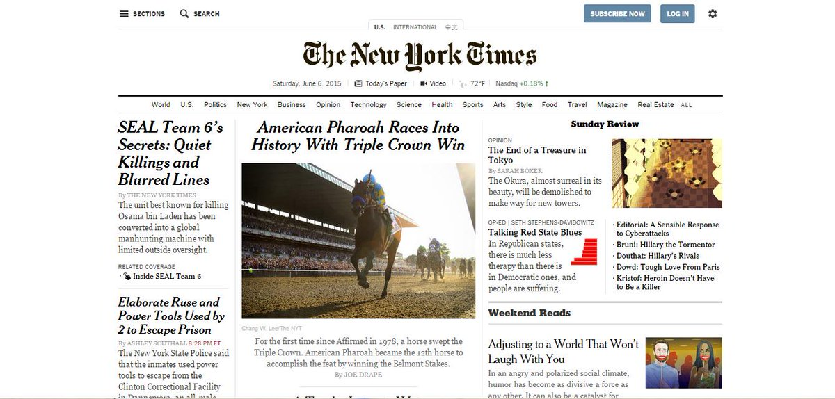 Pharoah is King of the Headlines! #TripleCrown http://t.co/BJ7qroUHpJ