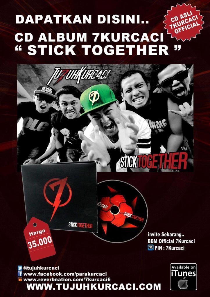 Buat yang belom beli album terbaru @Tujuhkurcaci #sticktogether bisa di cek infonya disini yahh .... rock on !!! http://t.co/S47BipdJdt