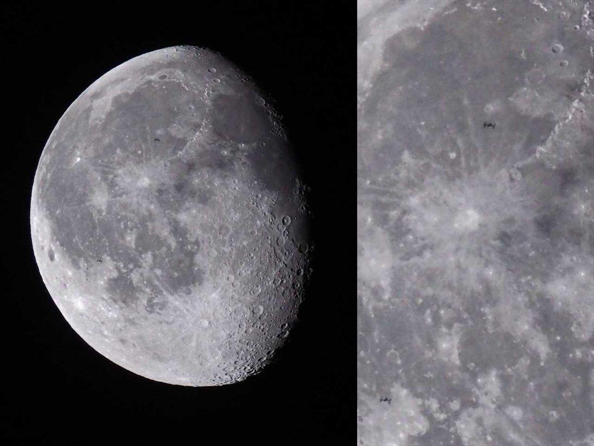 OMD-EM5MARK�Uの静音連写の罠(ISSの月面通過)