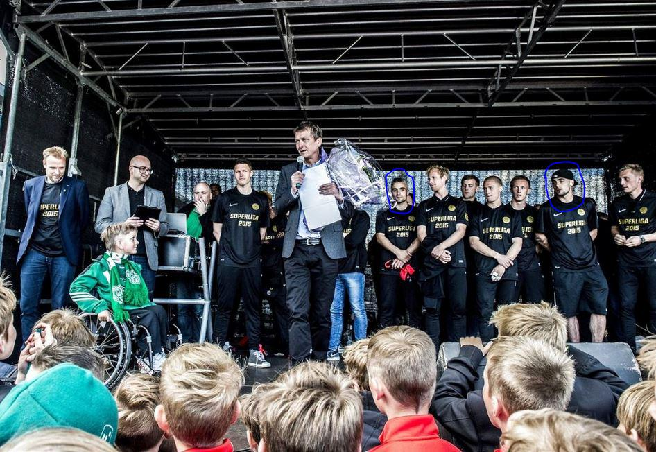 The Stankov twins and Viborg celebrated promotion