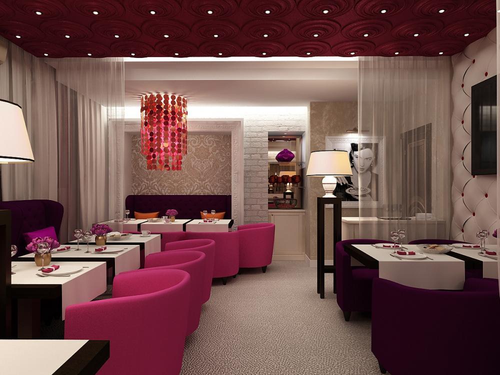 как работает красный цвет зала ресторана фото основных элементов костюма