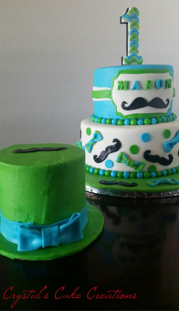 Crystals Cake Creat on Twitter Mustache and Bowtie cake with