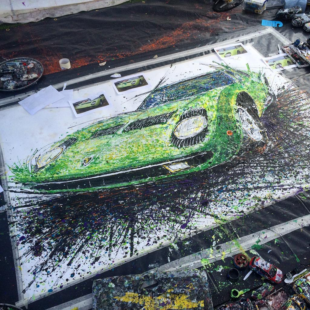 Great day paintin' @WiltonHouseWCS here's the @Lamborghini #Miura @Popbangcolour artwork created, watcha think to it? http://t.co/ggFR34cfNa