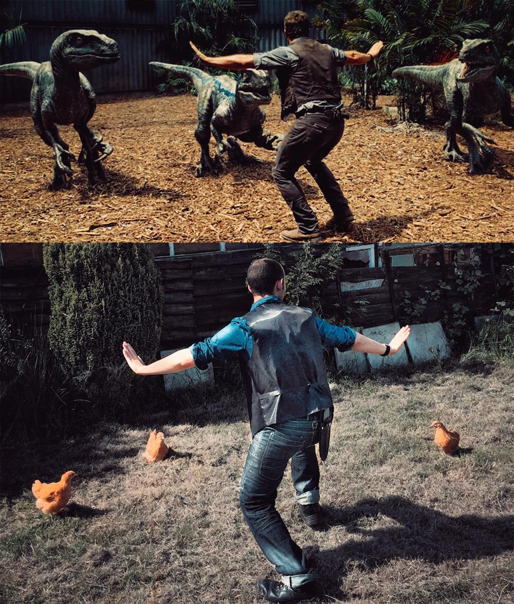 Cười đau bụng với hình ảnh nhái phim Jurassic World của các nhân viên vườn thú - 77704
