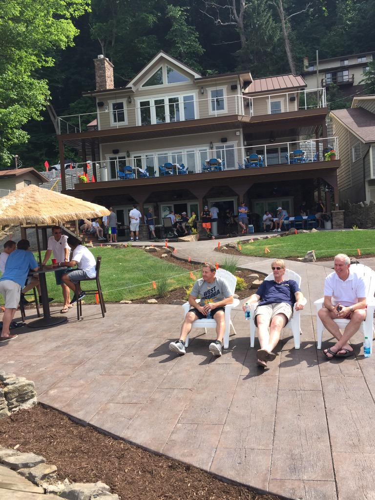 "Bob Huggins on Twitter: ""Love having the 2015 Fantasy Campers at my new Lake house on Cheat Lake ..."
