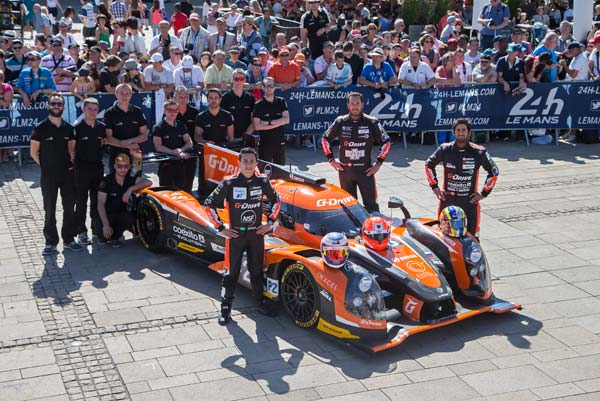The 2015 @GDrive_Racing #28 racing team, let's do this!  #lm24 #lemans @FIAWEC @PipoDerani @GustavoYacaman #winning http://t.co/8Ged3z2uWs