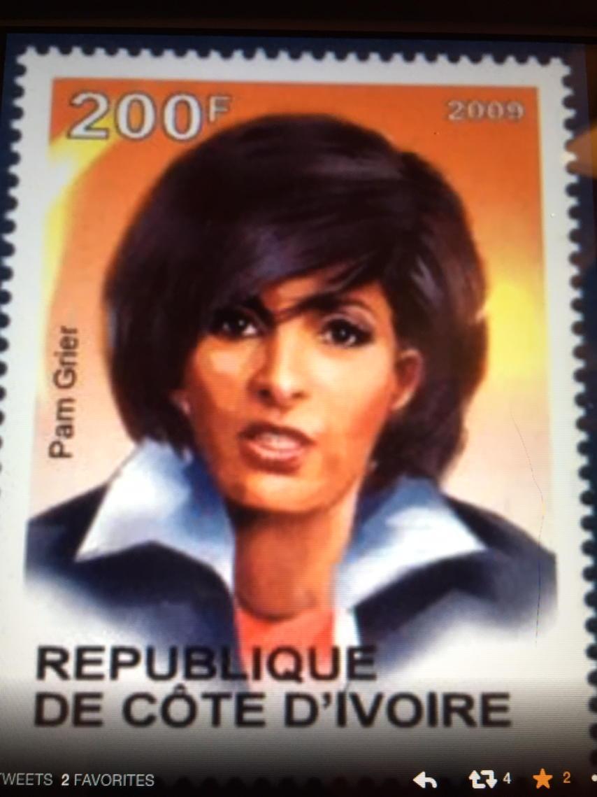 """Pam Grier Ph.D on Twitter: """"My Stamp! Namaste! http://t.co/gJBgrSem8i"""""""