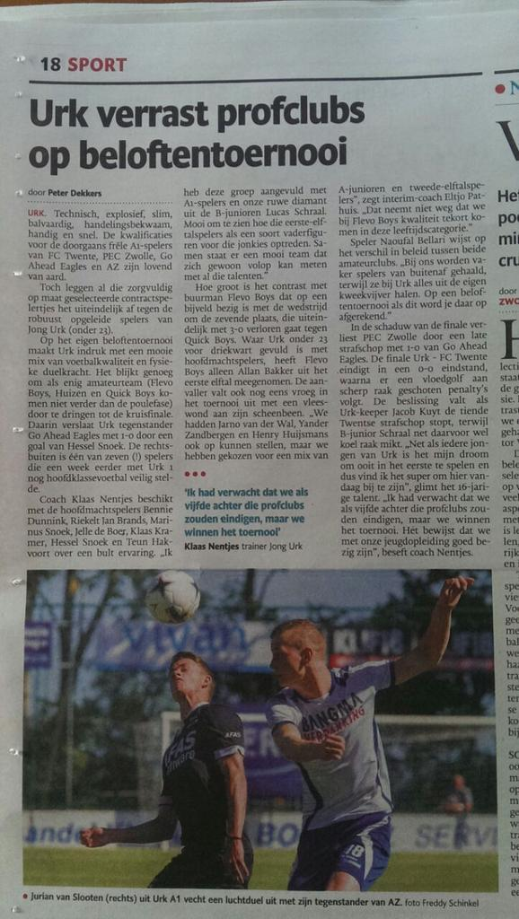 Mooi artikel in de Stentor! http://t.co/KImvp84fej