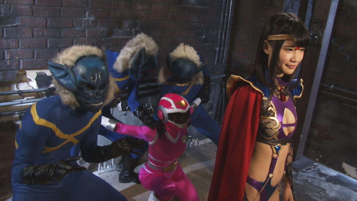 Japanese pink power ranger in trouble - 3 part 9