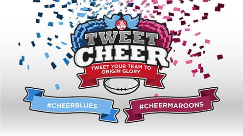 Use #CheerBlues or #CheerMaroons during the NRL State of Origin, and the cheerleaders will perform them live! http://t.co/0GM9dgUePL