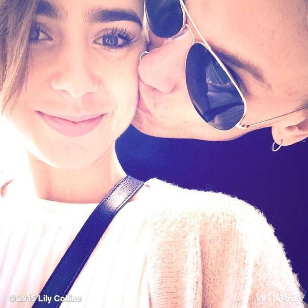 482c2bfe90 lilly collins and jamie campbell bower are back on who loves these two  cuties together