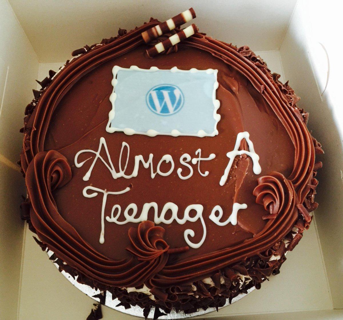 Matt Mullenweg On Twitter Wordpress 12th Birthday Cake Httpst