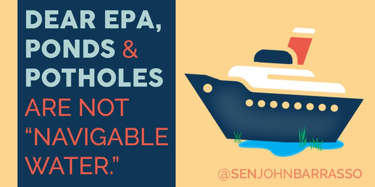 There's bipartisan agreement that Washington bureaucrats have gone beyond their authority w/overreaching #WOTUS rule. http://t.co/7FRKdR3JqT