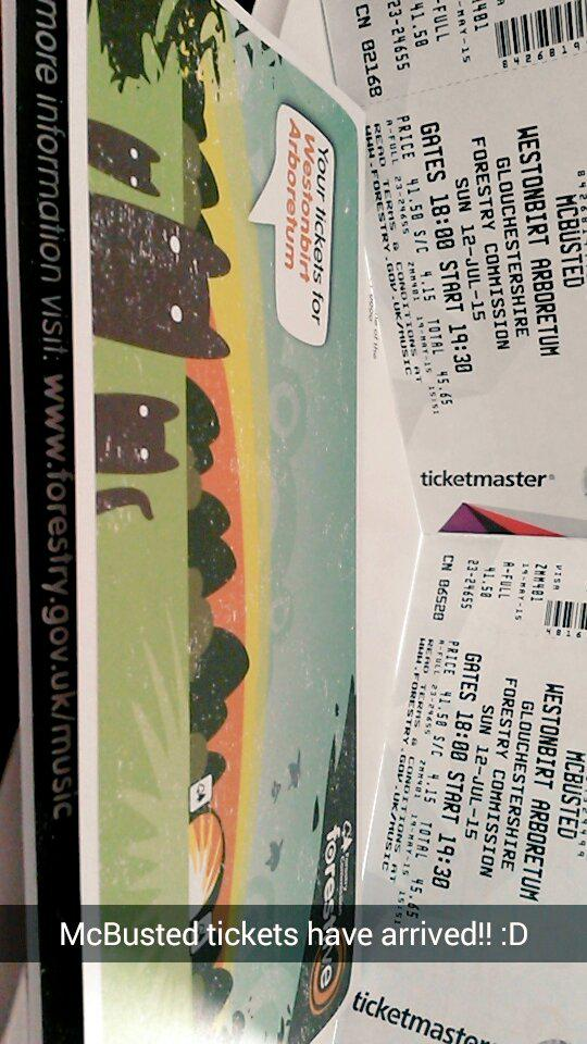 RT @FlissThompson: Yayyyy @mcbusted tickets have arrived ready for July!! :D @Lydie_Llamas http://t.co/vFzxaQr0F4