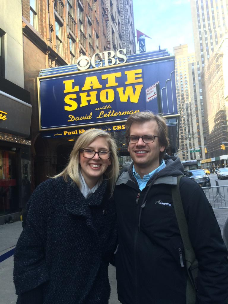 Replying to @Athertron: @Letterman back in Feb. @maljsmith and I played hooky from work to attend a taping! #ThanksDave http://t.co/NzRPAHzXjI