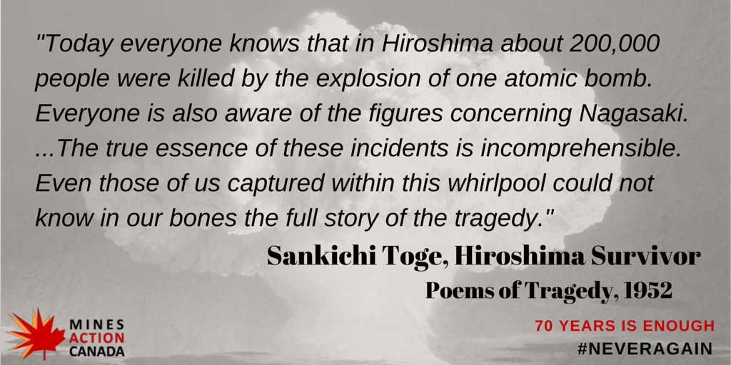 69 days until 70th anniversary of #Hiroshima & #Nagasaki. 70 years is enough, now fill the legal gap. #neveragain http://t.co/HzVmlJ5lgt