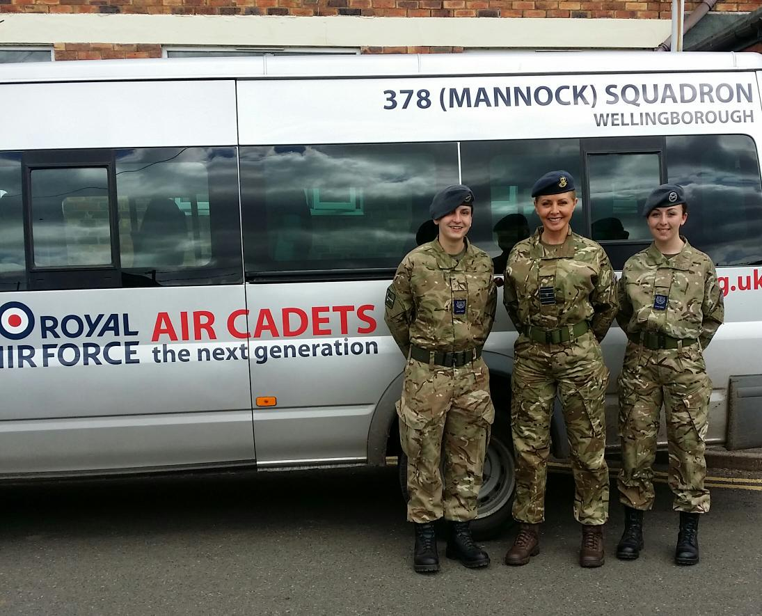 Had a wonderful day with @aircadets on a training camp today .... Quick March Group Captain Vorderman x http://t.co/mjs5O2bJsZ
