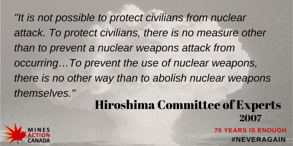 66 days until 70th anniversary of atomic bombs being used on people. 70 years of threat of nuclear weapons is enough http://t.co/xw0JIpvH4b