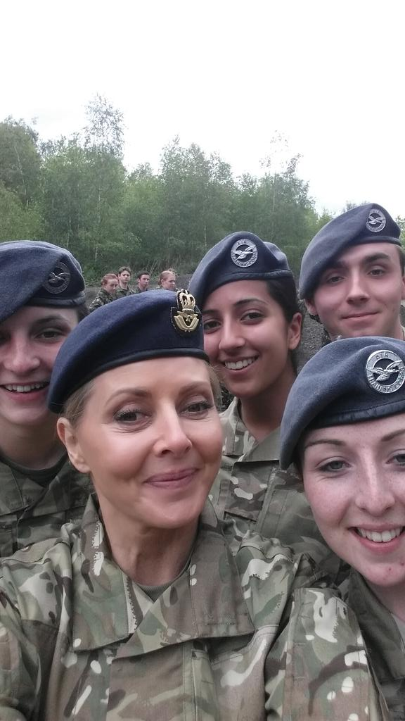 And some lovely young Cadet Officers... Being sensible... http://t.co/7oOjamh5Kn