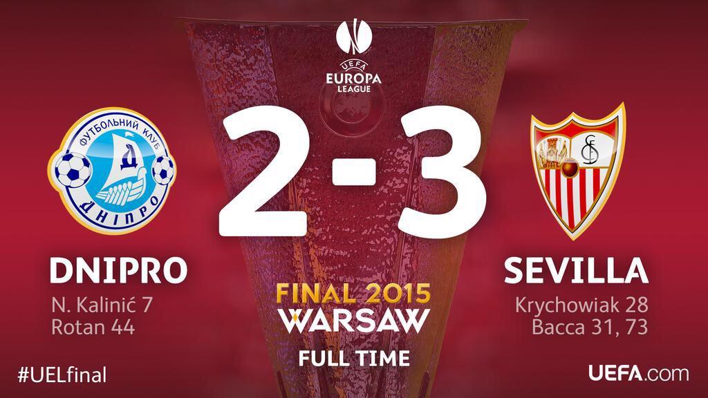 Dnipro-Siviglia 2-3, video gol highlights finale Europa League