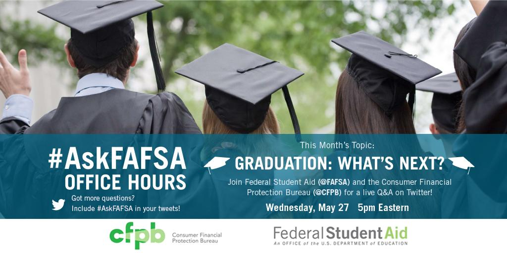 Thumbnail for May 2015 #AskFAFSA Office Hours: Graduation, What's Next?