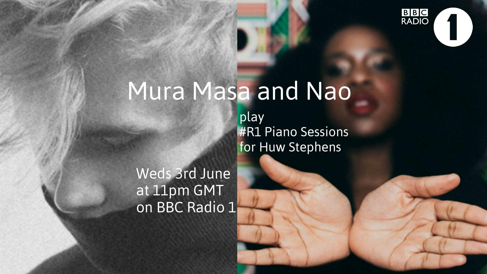 RT @BBCR1: .@huwstephens' next piano session will be with two rising stars @mura_masa_  and @thisnao. Listen in next Wednesday! http://t.co…