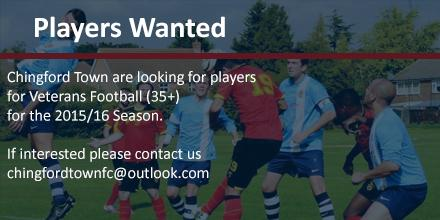essex vets football players wanted