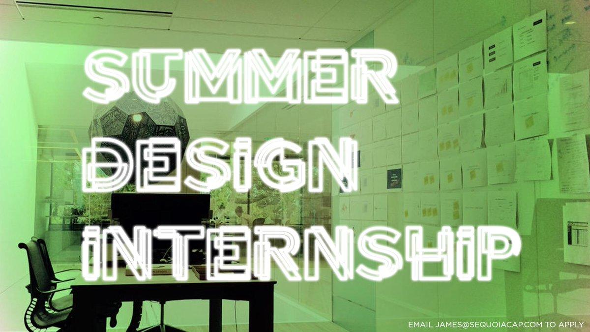 JASON MAYDEN On Twitter Summer Design Internship At Sequoia Via Buckhouse Email Jamessequoiacap To Apply Tco NARANMg4d2 GoTime