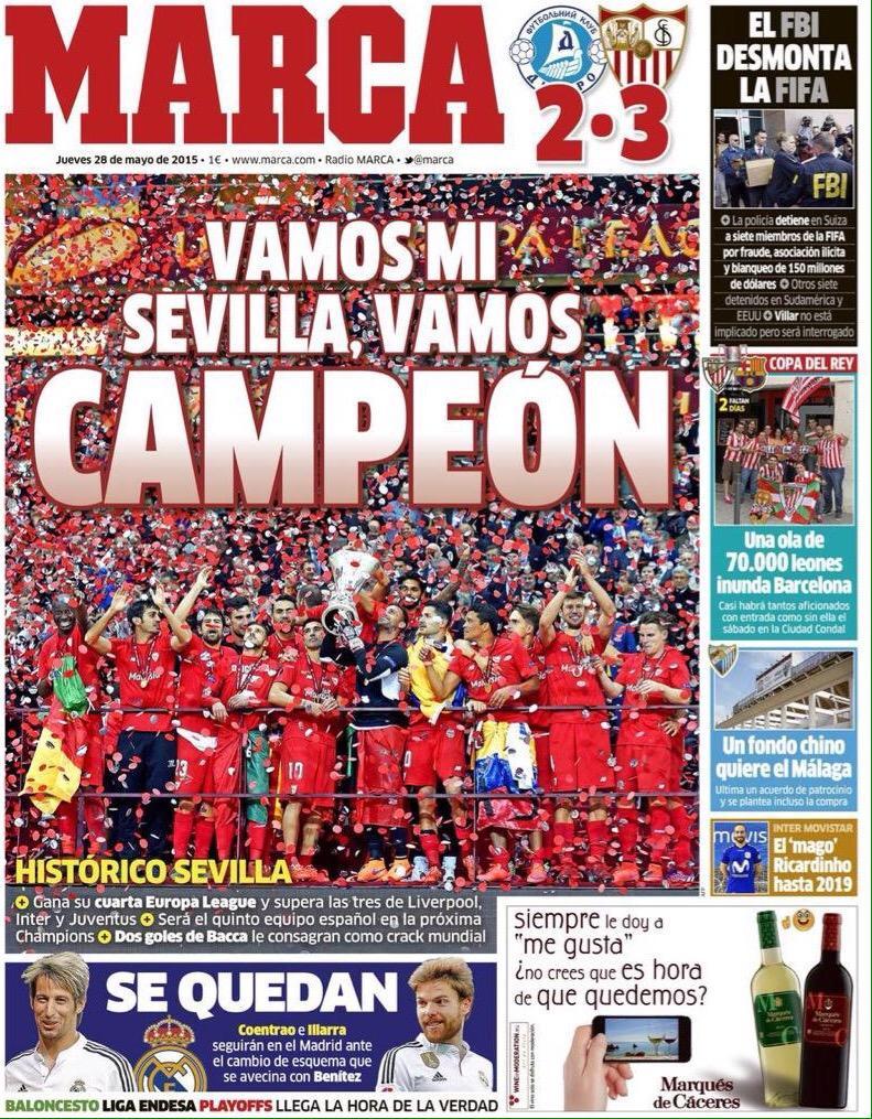 Quarta Coppa Europa League per il Siviglia di Spagna