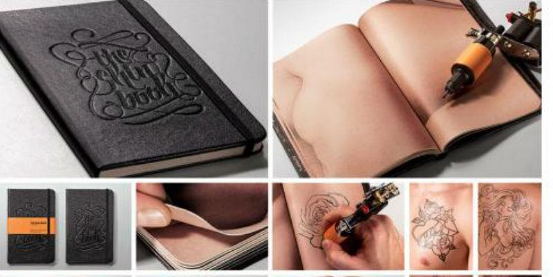 The skin-like pages of this book help tattoo artists perfect their craft http://t.co/nUKJpkJ101 http://t.co/tRYPdBpfS3