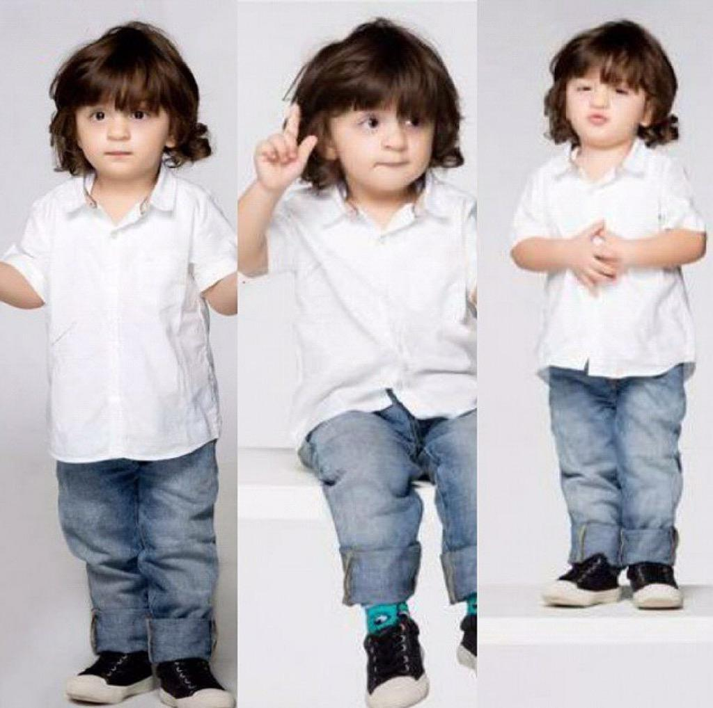 Oh Cute!  Check out @iamsrk's youngest son AbRam's new photography session http://t.co/DmPN1nfxnH
