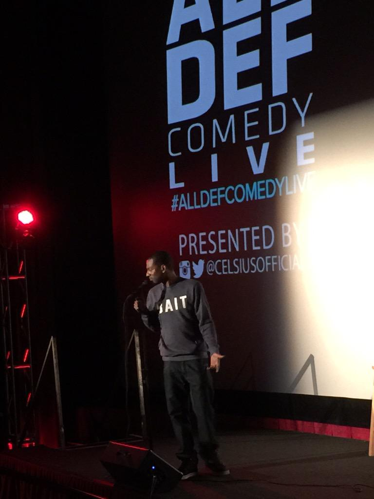 .@TONYROCK starting the night off right at #AllDefComedyLive @CelsiusOfficial http://t.co/k6nQsL7Nlg
