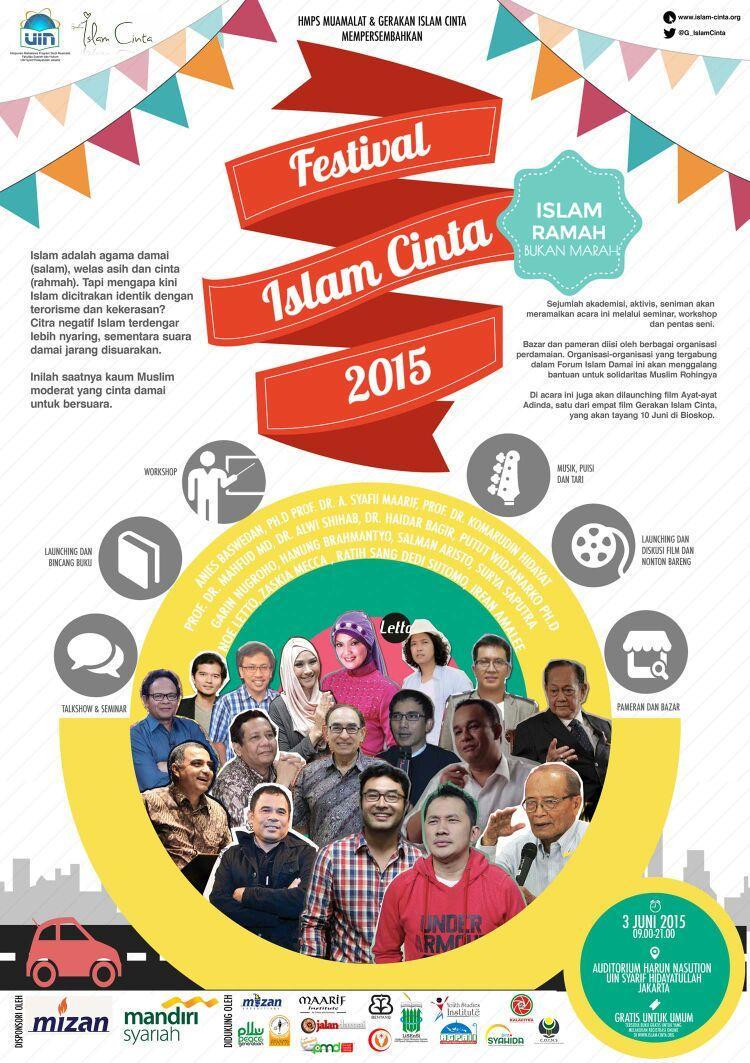 Islam Cinta On Twitter Poster Kegiatan Festival Islam Cinta