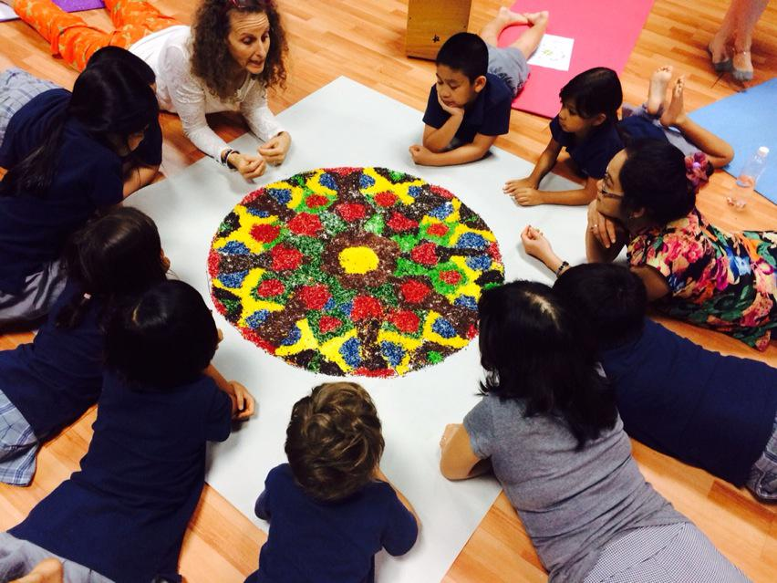 Working together to create a beautiful Mandala #ishcmcpassionday