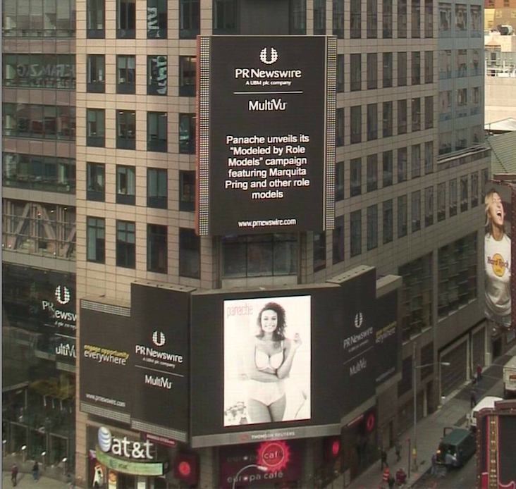 RT @LauraLucyJones: Our @LovePanache 'Modelled by Role Models' campaign made it all the way to Times Square. Awesome. @hollerlondon http://…