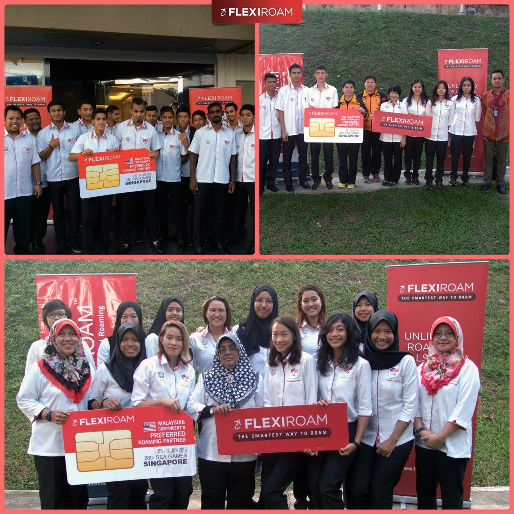 Flexiroam is so proud to be the Malaysian contingent's preferred roaming partner for the Sea Games 2015! #flexiroam http://t.co/kTeSJHlFOn