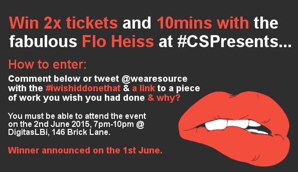 RT @wearesource: WIN 2x tickets to the next @CreativeSocial! follow the instructions...  #iwishiddonethat http://t.co/rdY9j3sayR
