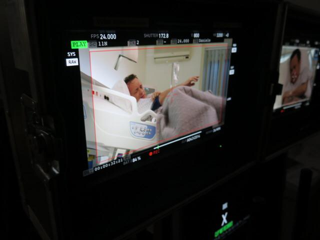 Director's monitor #infernomovie @tomhanks  Hospital escape frame 1 http://t.co/UMi5kE3wqV
