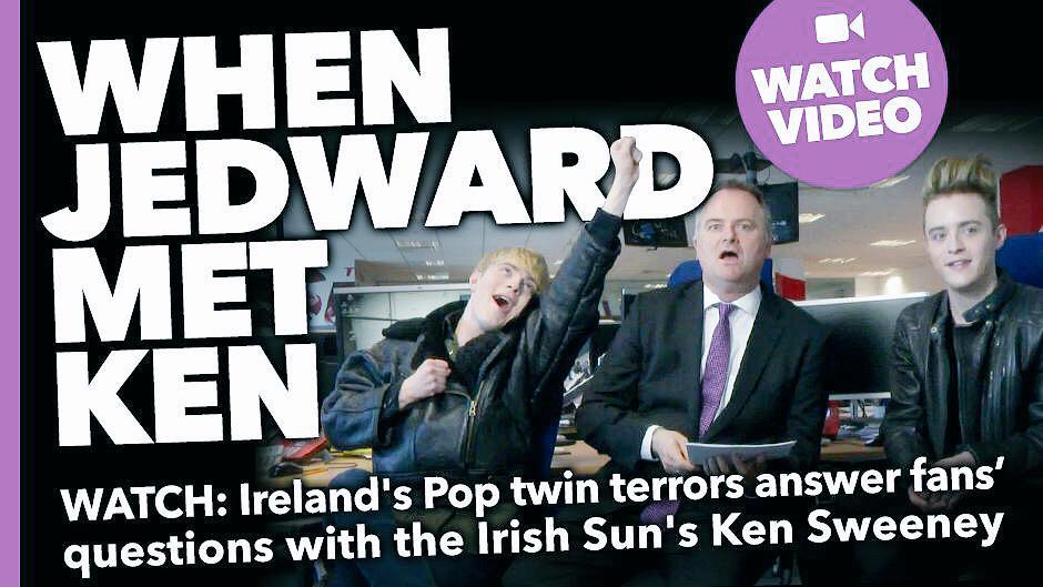Watch our awesome @IrishSunOnline interview! When Jedward Met @KenSweeney http://t.co/sUm2XU9zXL @TheSunNewspaper http://t.co/cAw6OZ46Oj